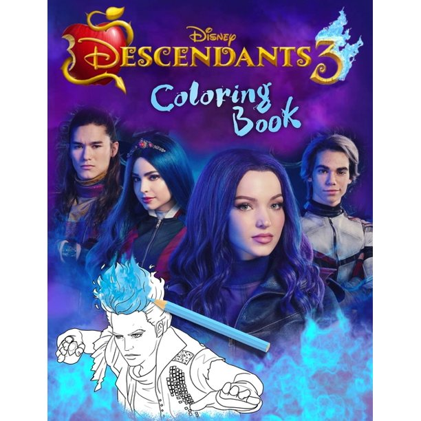 Descendants 3 Coloring Book: Disney Descendants 3 Coloring Book With Unofficial Premium Images for Kids and Adults (Paperback)