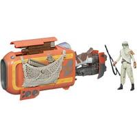"Star Wars The Force Awakens 3.75"" Vehicle Rey's Speeder Bike (Jakku)"