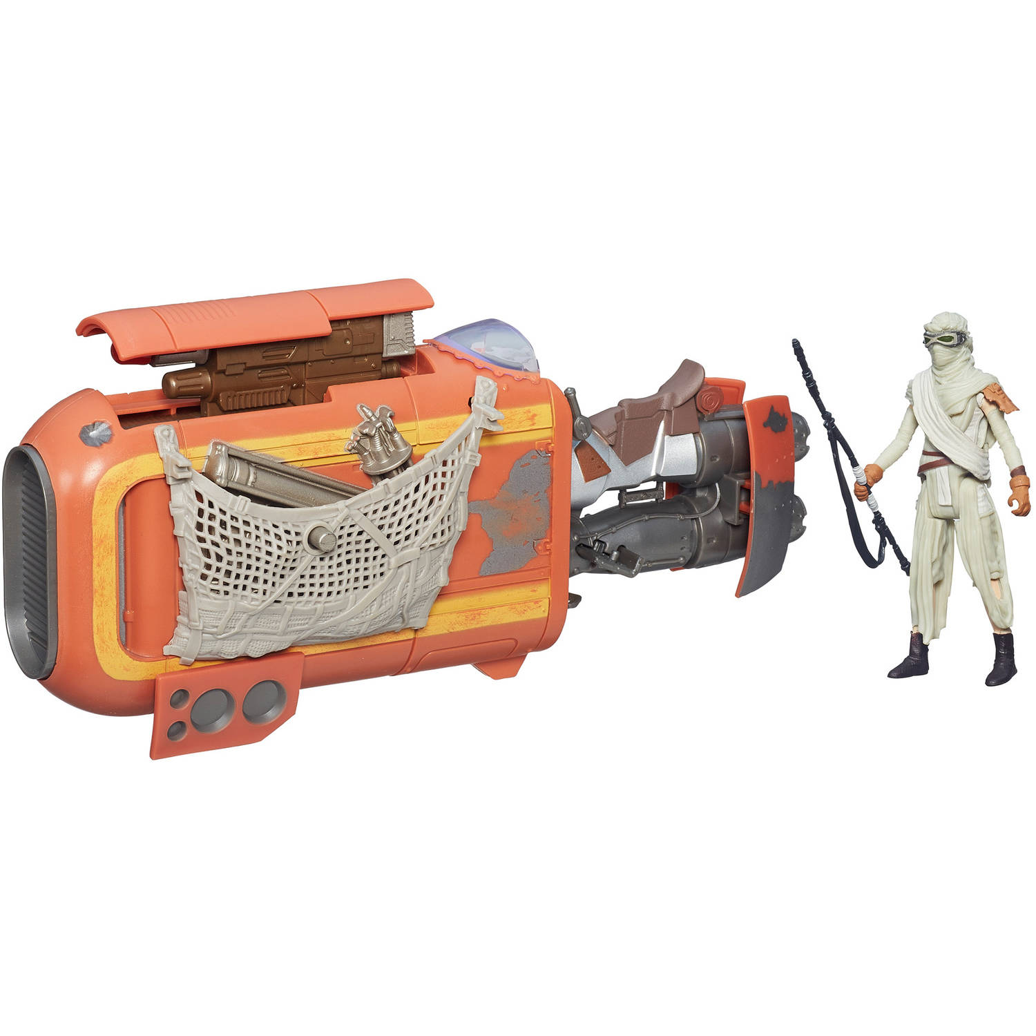 "Star Wars The Force Awakens 3.75"" Vehicle Rey's Speeder Bike (Jakku)"