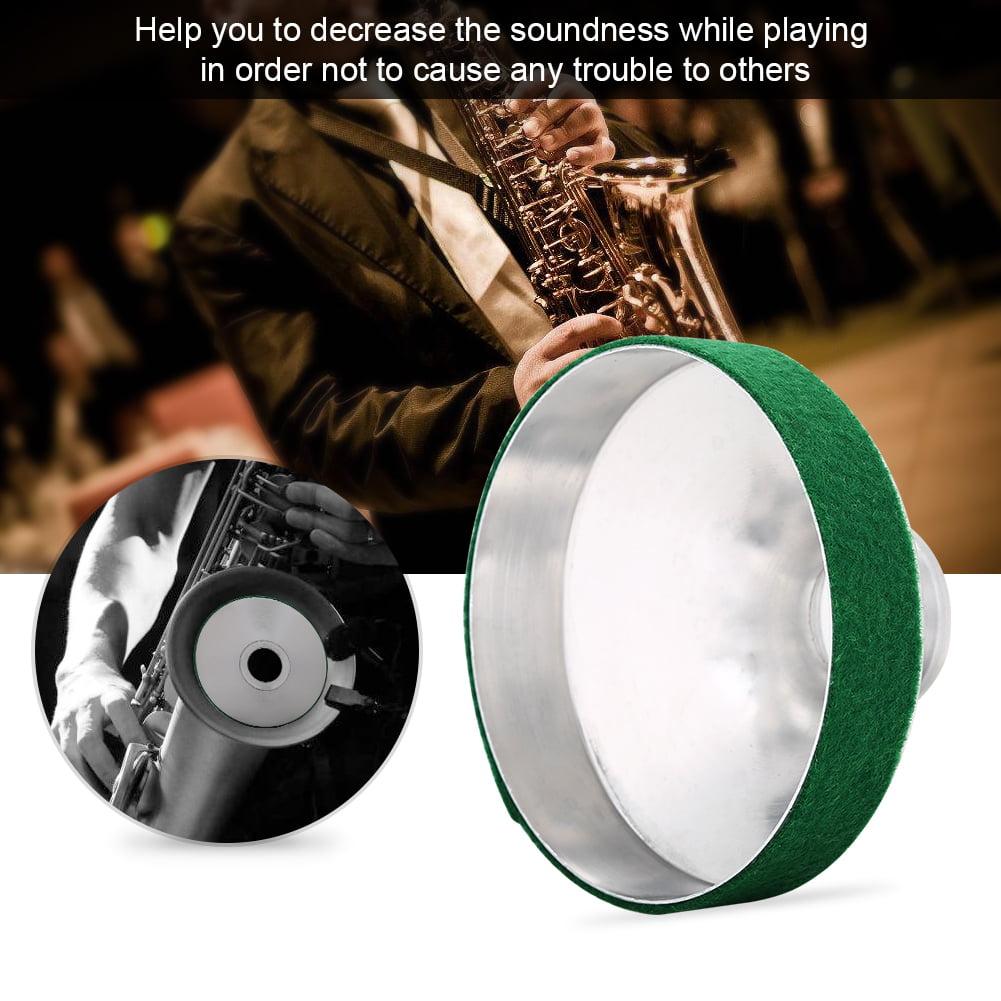 Yosoo Aluminum Alloy Tenor Saxophone Mute Sax Sound Metal Dampener Silencer Accessory, Saxophone Dampener,Saxophone Mute
