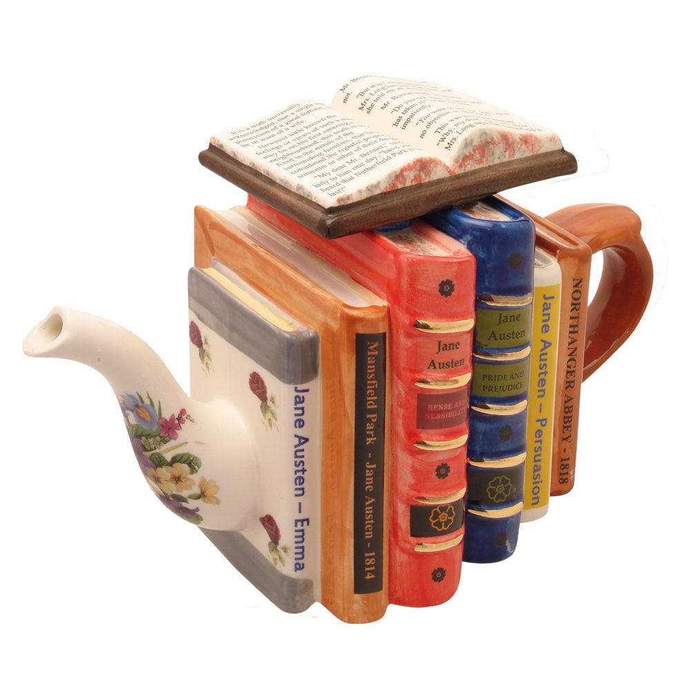 Jane Austen Novels Ceramic Teapot 42 Oz Walmart Com