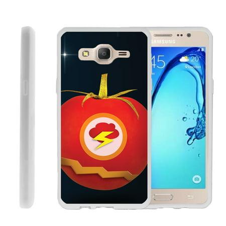 Samsung Galaxy On5 G550, Flexible Case [FLEX FORCE] Slim Durable  Sleek Bumper with Unique Designs - Flash Tomato