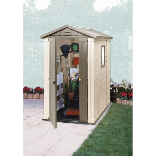 keter apex 4 x 6 ft storage shed walmartcom
