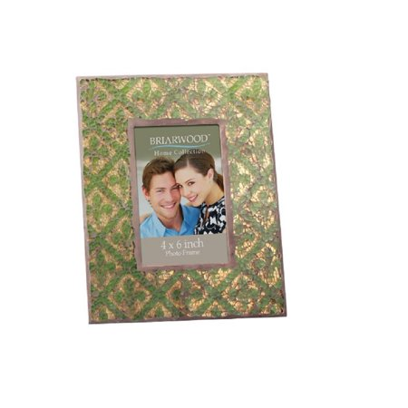 Briarwood Gold Leaf Fleur De lis with Olive Accents Mosaic Frame 4