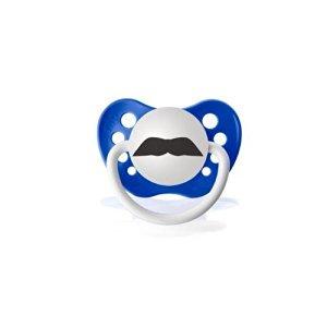 Personalized Pacifiers The Chevron Mustache - Dark Blue