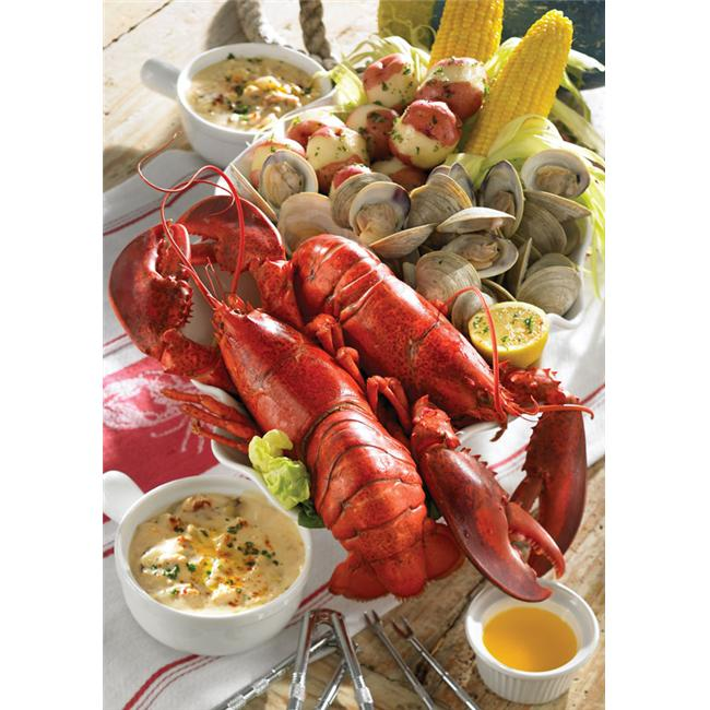 Lobster Gram MSGR2Q MAINE SHORE CLAMBAKE GRAM DINNER FOR TWO WITH 1. 25 LB LOBSTERS