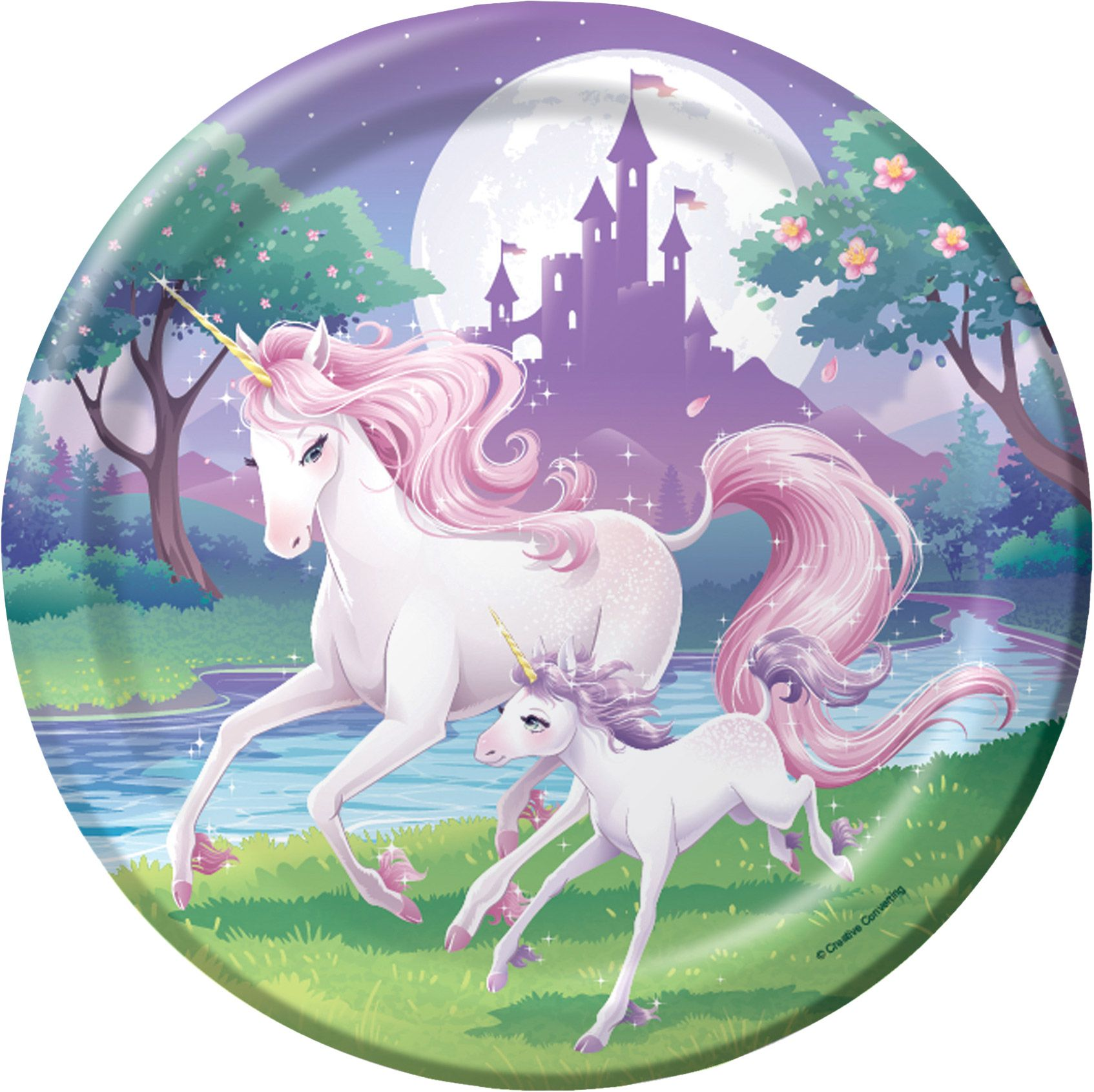 "Unicorn Fantasy 9"" Luncheon Plates (8 Pack) - Party Supplies"