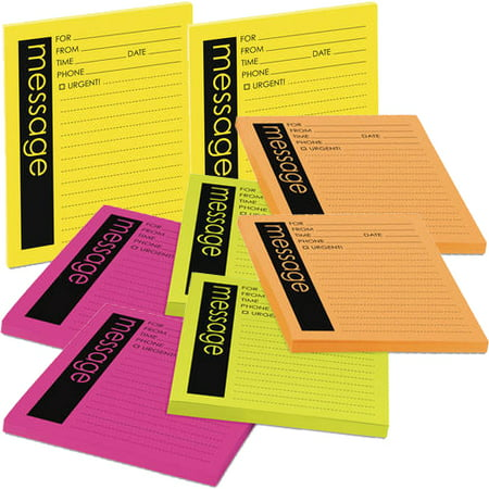 Flat Notes Set ((2 Pack) Post-it®, MMM76794, Telephone Message Sticky Note Pads, 4 / Pack, Assorted )