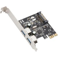 2-Port USB 3.0 PCI-Express Card, x1, Revision 1.0; Renesas Chipset with Full & Low Profile Brackets