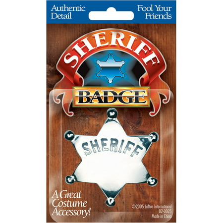 Sherriff Badge (Star Power Boys Cowboy Sheriff Engravable Badge, Silver, One)