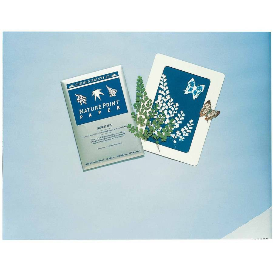 Nature Print Printing Paper, Sun Activated, 5 x 7 Inches, Pack of 40