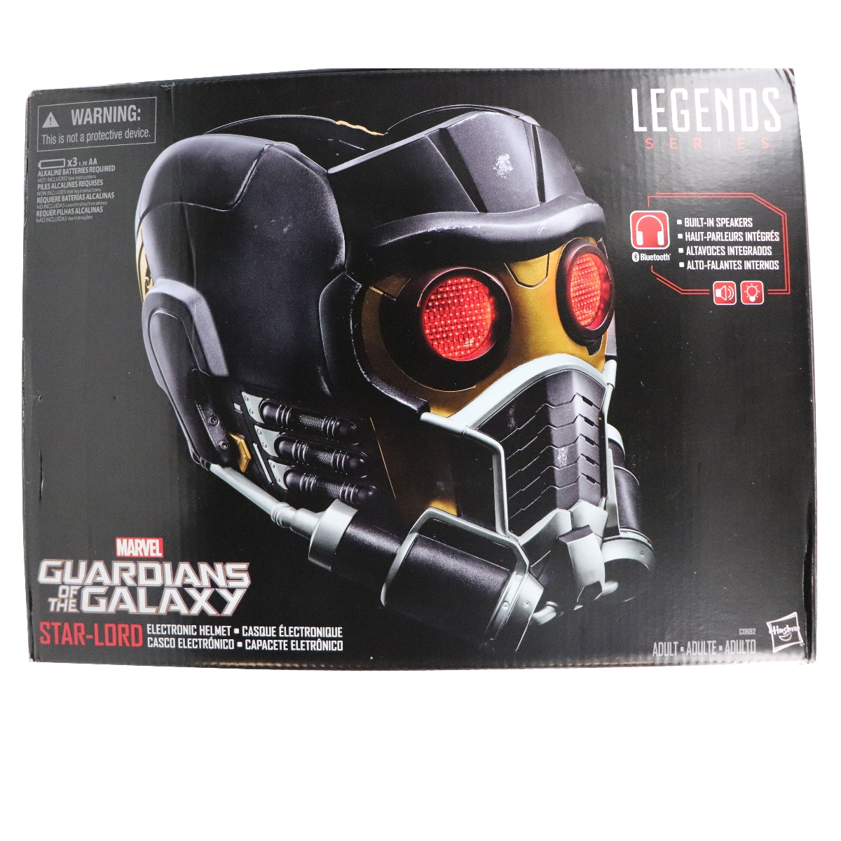 The guardians of the galaxy electronic helmet star-lord marvel legends c0692
