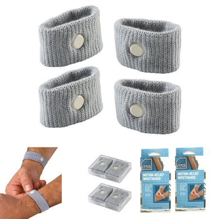 (4 Motion Relief Wrist bands Nausea Sickness Wrist Band Boat Car Plane Travel Aid)