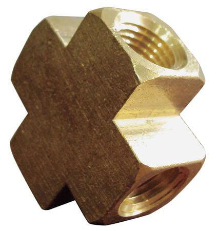 Brass Cross,1/8 In,FNPT 6AYY7
