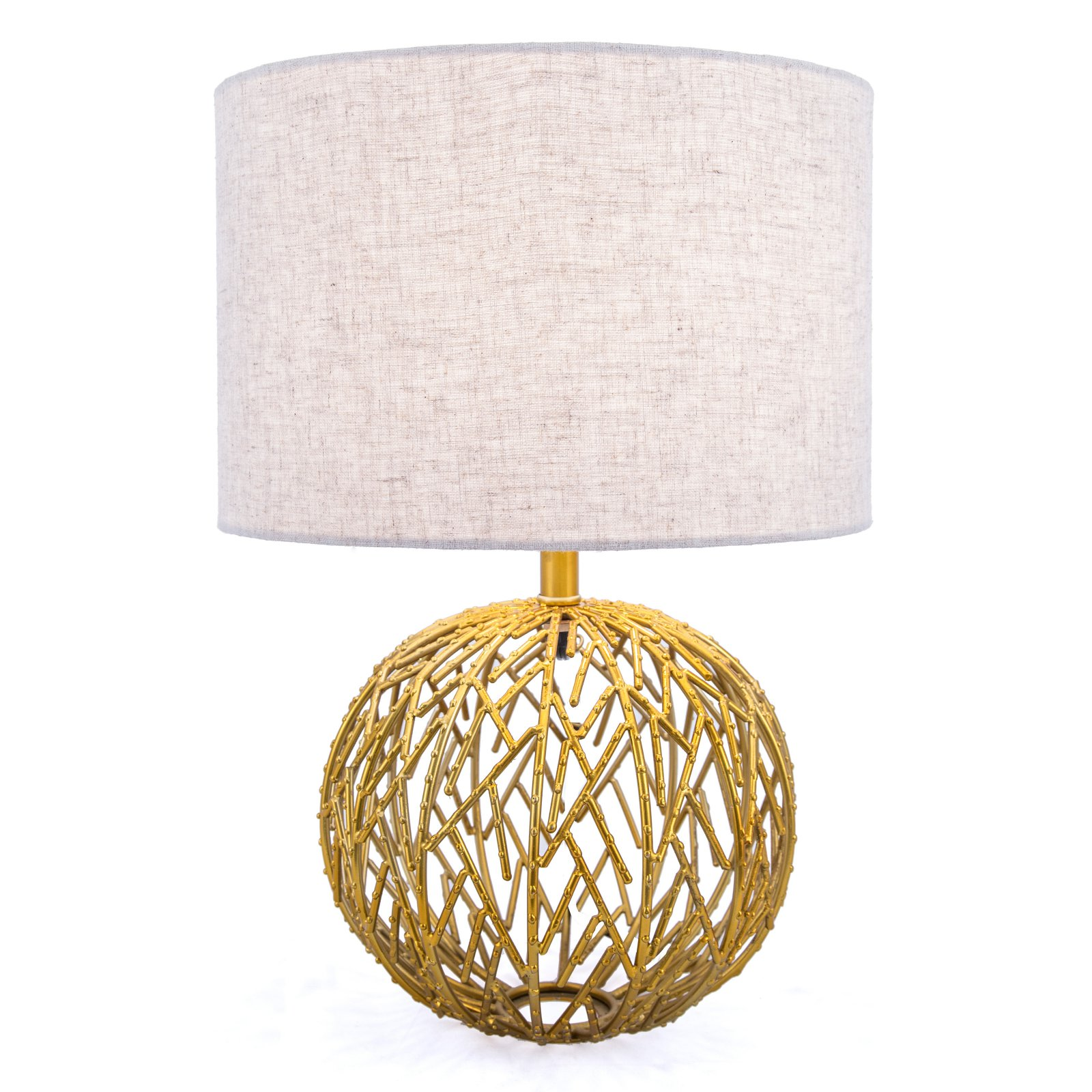 Watch Hill Lighting Gold Lattice Ball Table Lamp