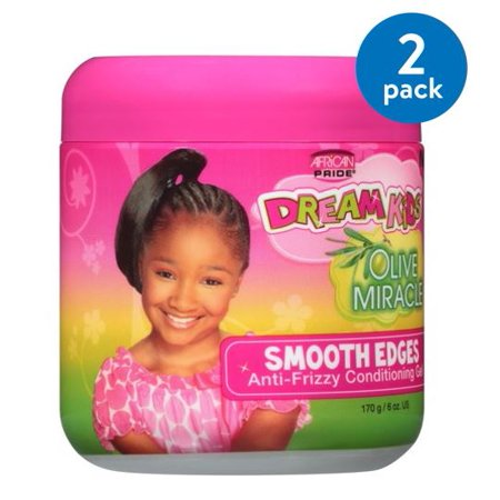 (2 Pack) African Pride Dream Kids Olive Miracle Smooth Edges Hair Gel 6 oz.
