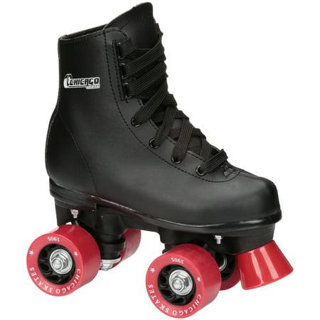 Chicago Boys' Classic Quad Roller Skates Black Junior Rink Skates, Size J10