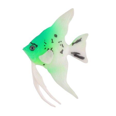 Aquarium Tank Plastic Decoration Floating Ornamental Fish Ornament Green White - image 4 de 4