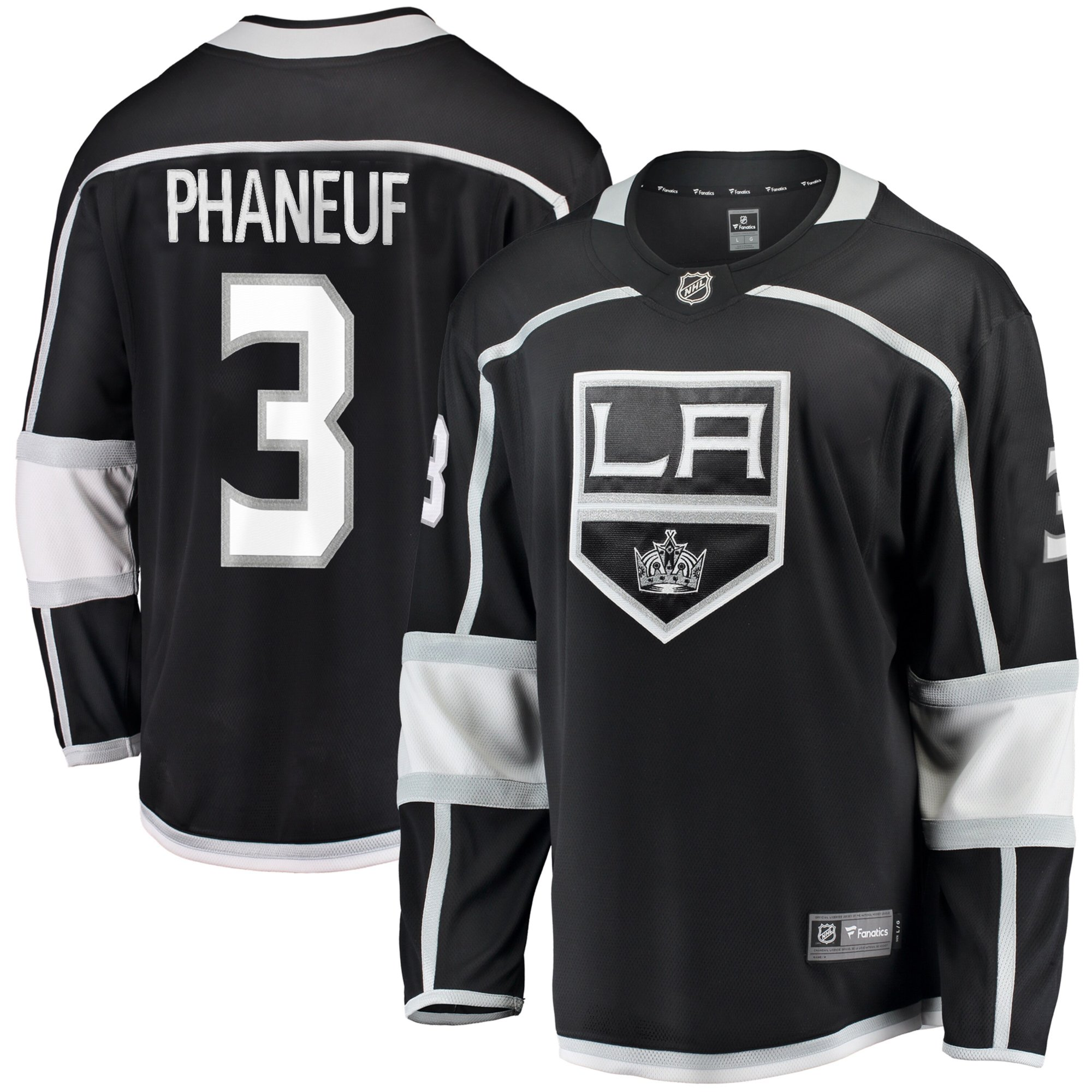 low priced 4a6e9 71a23 Dion Phaneuf Los Angeles Kings NHL Fanatics Breakaway Home Jersey