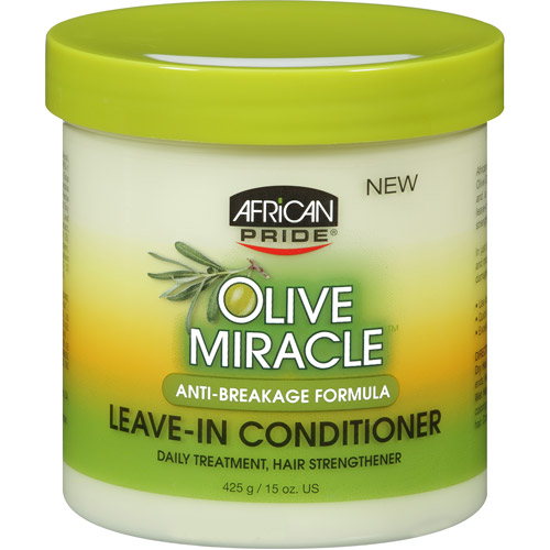 African Pride Olive Miracle Leave-in Conditioner, 15 oz