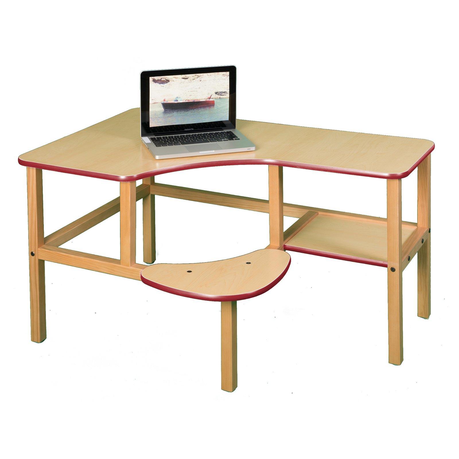 Pre-School Kids' Dent Resistant Computer Desk (White / White)