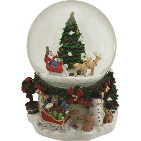 "Walmart Seller Central >> 6.75"" Musical and Animated Santa on Sleigh Rotating ..."