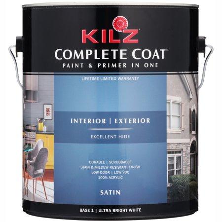 Kilz® Complete Coat™ Ultra Bright White Satin Paint & Primer 126 fl. oz. Can