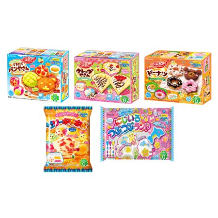 Kracie Popin Cookin Diy Gummy Candy Making Kit 5 Piece Box Bag Set