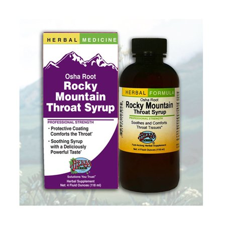 Herbs Etc - Rocky Mountain Osha Root Throat Syrup Professional Strength - 4 oz.