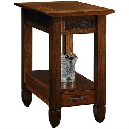 Bowery Hill Chairside End Table in a Rustic Oak Finish ()