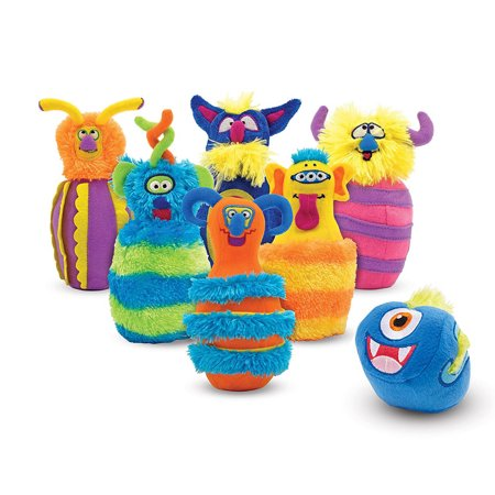 Melissa & Doug Monster Plush 6-Pin Bowling Game With Storage Bag