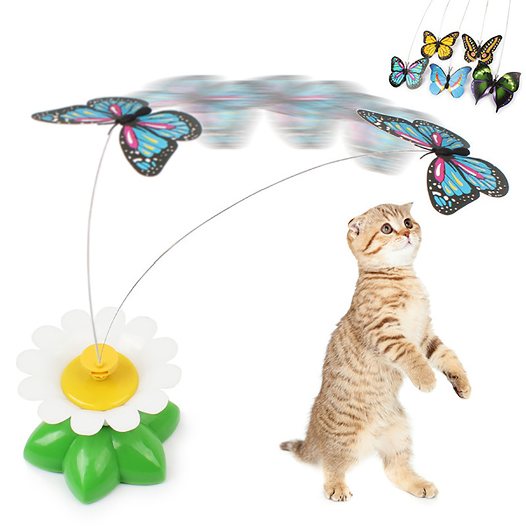Cat Toy, Legendog 360 Degree Rotation Flying Butterfly Electric Interactive Cat Toy Cat Spining Toy Cat Teaser... by Legendog