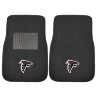 NFL Atlanta Falcons 2-PC Embroidered Front Car Mat Set, Universal Size