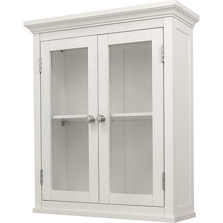 - Classy Collection 2-Door Wall Cabinet, White