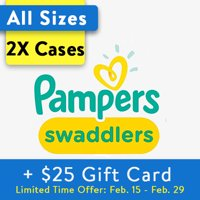 Deals on Walmart:Buy 2 Pampers Swaddlers Diapers and Get $25 Gift Card