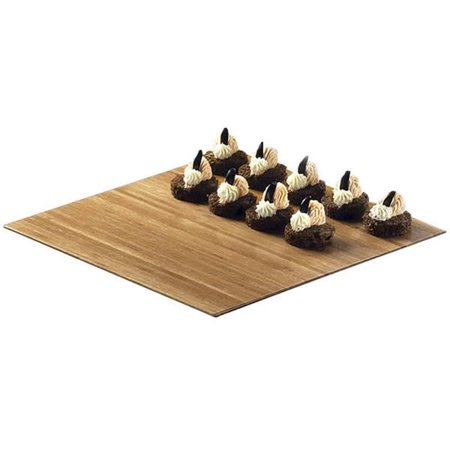 Cal Mil 1481-12-60 Square Bamboo Tray - 12 x 12 x .75 in. - image 1 of 1
