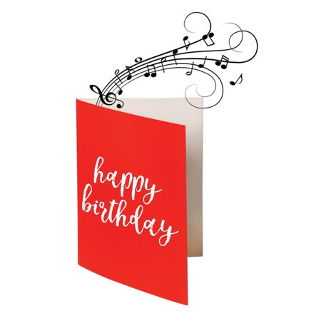 Endless Singing Birthday Song Joke Card - Funny Electric Card - Non-Glitter (Birthday Direct Coupon)