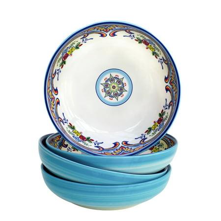Euro Ceramica Inc. Euro Ceramica Zanzibar Earthenware Pasta Bowls (Set of -