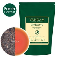 VAHDAM, Daily Darjeeling Black Tea, Loose Leaf Darjeeling Tea, 9oz