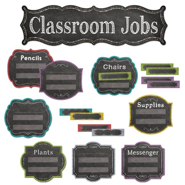 Creative Teaching Press CTP6969 Classroom Jobs Mini Bulletin Board Set - Chalk