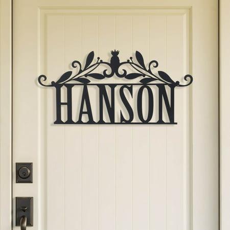 Personalized Black Wood Name Door (Overdoor Plaque)