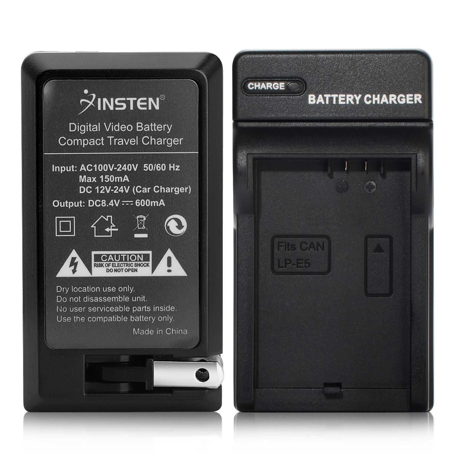 Insten Compact Battery Charger Set For Canon LP-E5