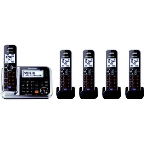 Panasonic KX-TG7875S Link2Cell Bluetooth Cordless Phone w/ 5 Handsets
