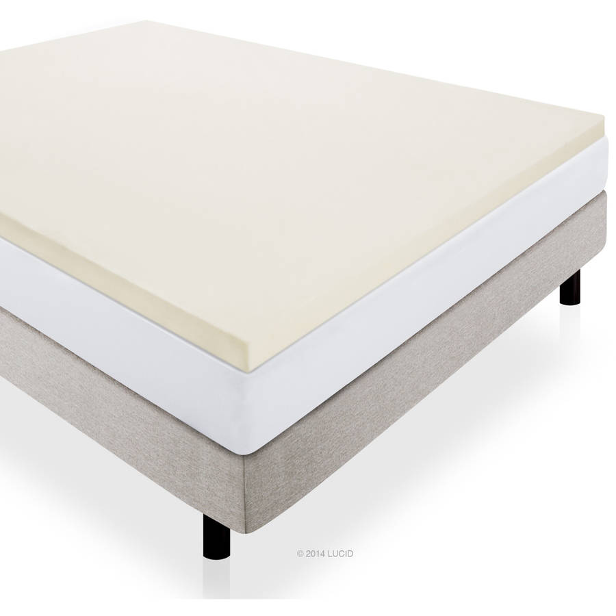 "Lucid 2"" Premium Soft Foam Mattress Topper, Multiple Sizes by CVB Inc."