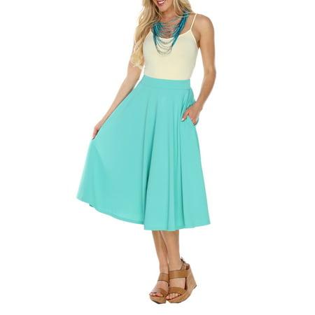 (Women's Flared Midi Skirt)