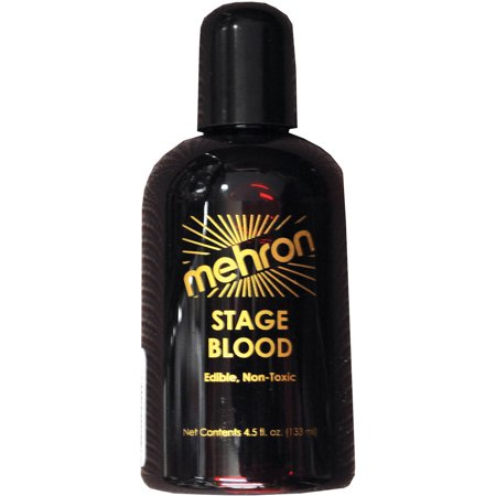 Blood Stage 4.5-Ounce Adult Halloween Accessory (Halloween Fake Blood Ideas)