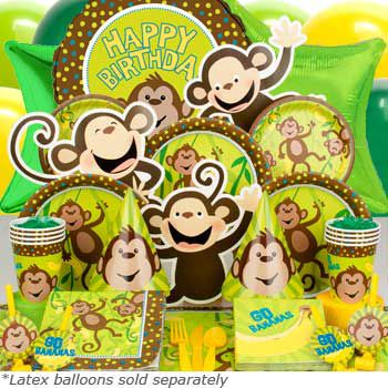 Monkey Around Ultimate Birthday Kit  Serves 8 Guests - Party Supplies