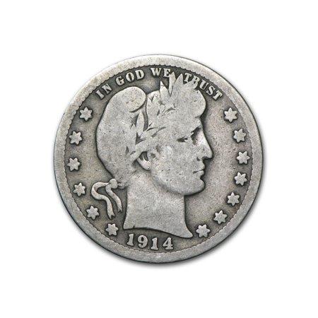 1914-S Barber Quarter VG