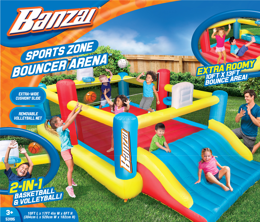 Superieur Banzai Sports Zone Bounce Arena (Inflatable Summer Backyard Jumping House  Bouncing Castle)