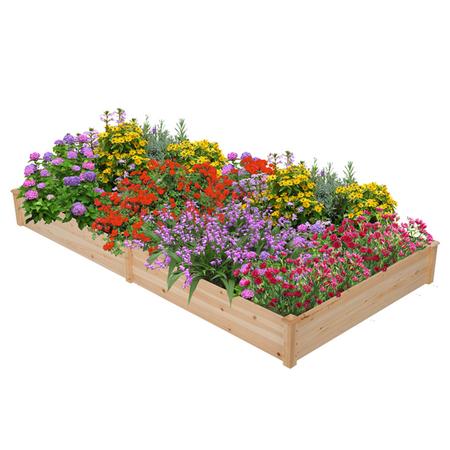 Topeakmart Raised Garden Bed Kit Planter Boxes Wood Planter Box